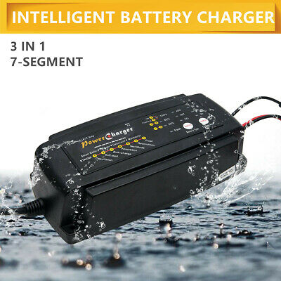 Smart Intelligent Automatic 12 V 2/4/8 A Car Battery Charger Booster UK PLUG