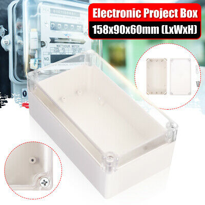 Waterproof Clear Electronic Project Box Enclosure Case Plastic Cover 158x90x60mm
