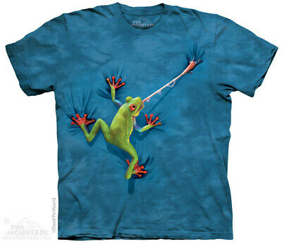 4109c The Mountain Kinder T-Shirt FROG TONGUE Frosch Zunge