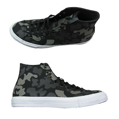 Converse Chuck Taylor All Star II Hi Size 10 Sneakers Charcoal Camo 151157C NEW