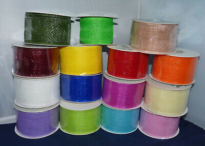 Deco Mesh By Eleganza Available In 19 Colours 63mm x 10m For Floral And Crafts