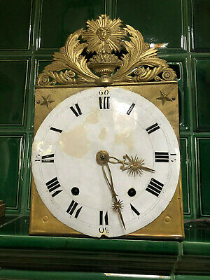 antique rare Baroque brass wall clock working condition