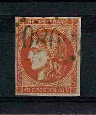 "FRANCE STAMP TIMBRE YVERT 48 "" CERES BORDEAUX 40c ORANGE 1870 "" OBLITERE TB V332"