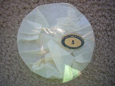 """VTF 5"""" NOS Replacement Round Clock Glass ~ FLAT ~ Made in France"""