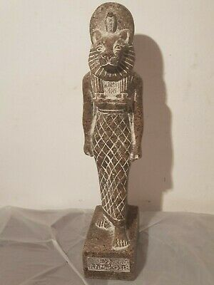 Rare Antique Ancient Egyptian Statue God Sekhmet Lion War Army Hunt 1620-1550BC