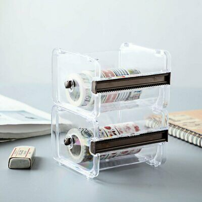 Transparent School Supplies Table Washi Tape Cutter Dispenser Office Stationery