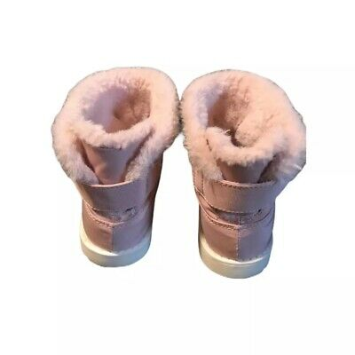 Zara Baby Dream Big Faux Fur Size 25 (US 9) Winter Boots Dress Boots Pink Shoes