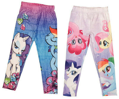 My Little Pony Clothes for Kids, Girls, Set of 2 Leggings in Pink and Blue NEW