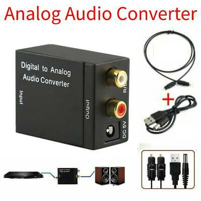 3.5mm Optical Coaxial Toslink Digital to Analog Audio Converter Adapter L/R RCA