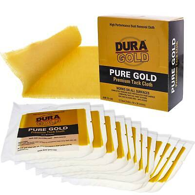 Dura Gold Tack Cloths, Box of 12 - Wax and Silicone Free Anti-Static Woodworker