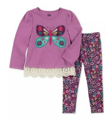 Kids Headquarters Baby Girls 2-Pc. Butterfly-Print Tunic & Leggings Set 24 M $35