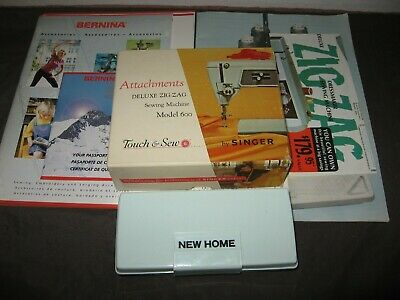 Vintage~Lot Of Various Sewing Machine Attachments & Booklets~Gd/Vgc