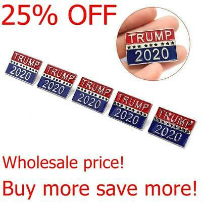 5 Pcs Donald TRUMP 2020 Election President Badge Button Pin Campaign Brooch Gift