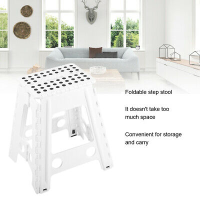 Large FOLDING STEP STOOL Heavy Duty Multi Purpose Fold Up Stepstool Home Kitchen