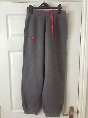 Boys Under Armour Joggers Size YLG Grey with red waistband VGC
