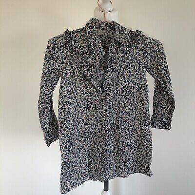 Girls Next Shirt Age 6 Floral Shirt Kids Blouse Long Sleeves Frilly Top