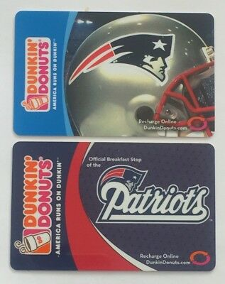 2007 Dunkin Donuts Gift Cards. NEW ENGLAND PATRIOTS. Mint. Worldwide shipping.