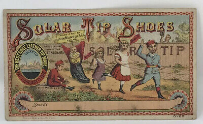Antique Victorian Trade Card- Solar Tip Shoes -Horland & Co., Pittsburgh, Pa