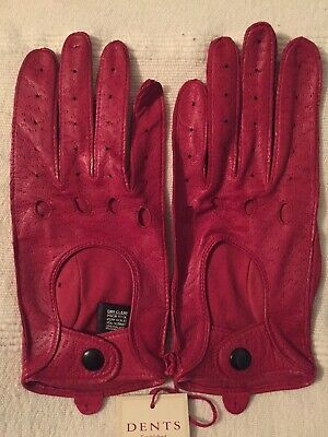 Dents Red Leather Driving Gloves Size 7 BNWT