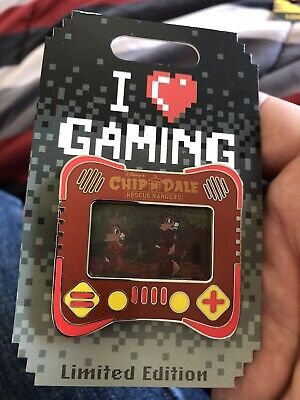 Disney Parks Pins I Heart Games - Chip N Dale LE