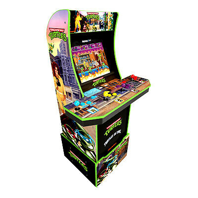 Arcade1Up Teenage Mutant Ninja Turtles At-Home Arcade with Custom Riser [Brand N