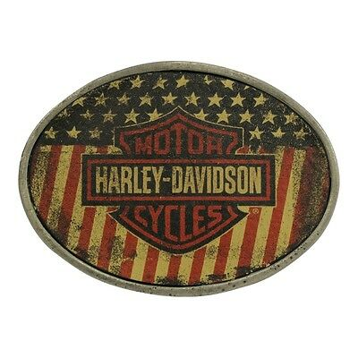 Harley-Davidson Womens Stealth American Flag with B&S Buckle