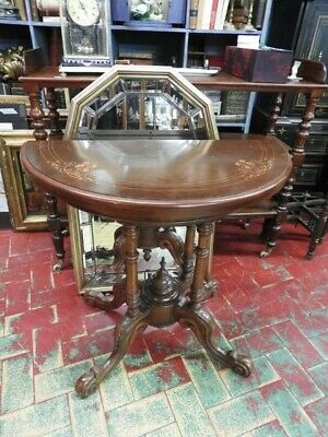 Small Table Console English Mahogany for Game London of 900 Trick Quality'