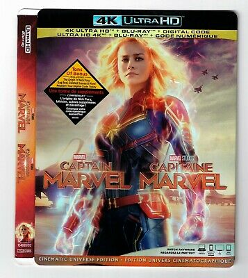 Captain Marvel 4K UHD Ultra HD Canadian Bilingual SLIPCOVER ONLY