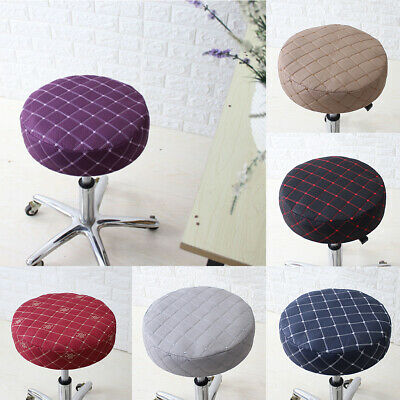 11-14/'/' 28-35cm Stretch Round Bar Stool Cover Chair Cushion Seat Pad Sleeves