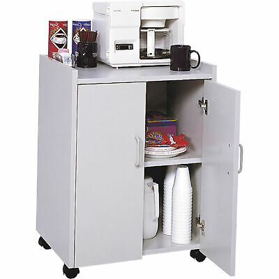 Safco Mobile Refreshment Center - Gray, 23in.W x 18in.D x 31in.H, Model# 8953GR