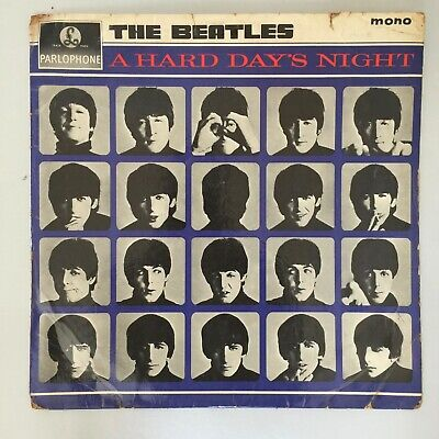 THE BEATLES - A HARD DAYS NIGHT Original 1960s LP UK Album Vinyl Mono PMC 1230