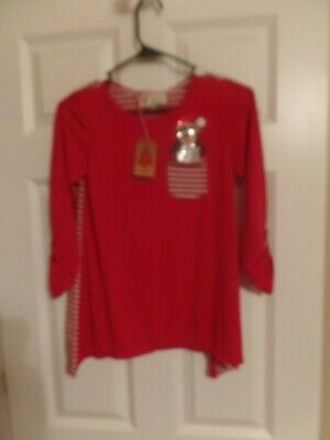Girls, Christmas Shirt, Penquin, Size: Large, Poof Girls, New with Tags