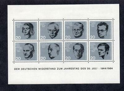 WEST GERMANY MNH 1964 SG1343a-1343h 20TH ANV OF ATTEMPT ON HITLER'S LIFE SHEET