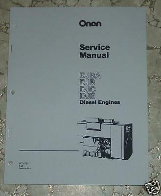 Onan Djba Djb Djc Dje Service Manual Publication  967-0751