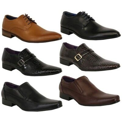 Mens Brogue Boots Leather Suede Look Lace Up Formal Smart Italian Belide Shoes