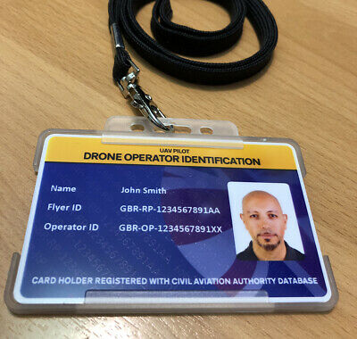 Drone Flyer ID Card + Drone Stickers - Drone Photo ID Card & Operator Stickers