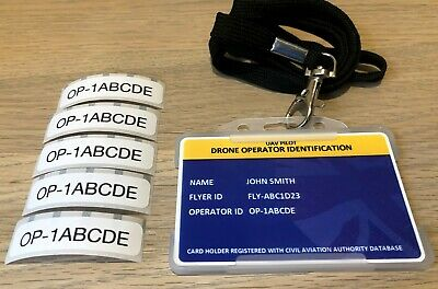 Drone ID Card - Holder/Lanyard + 5 Operator ID Labels.