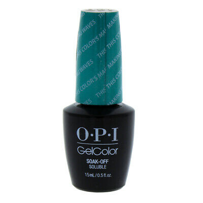 OPI GelColor Soak-Off Gel Lacquere-H74 This Colors Making Waves for Women-0.5 oz