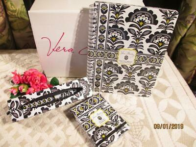 Vera Bradley~Fanfare~Ink Pen + Mini Notebook + Pocket Papers New In Pkg Retired