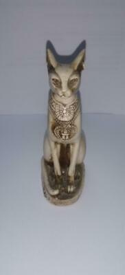 Egyptian Pharaonic Antique Cat Statue ( white ) + Free Shipping