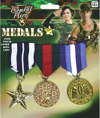Fake Military Medals Fancy Dress Accessory #US 1 single