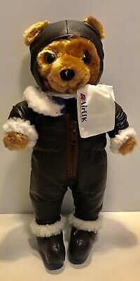 Small Soft Toy 25 cm Airline Pilot Teddy Bear High Quality Perfect Gift!