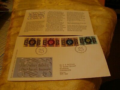Gb Stamps - Commemorative First Day Cover Fdc Silver Jubilee 1977