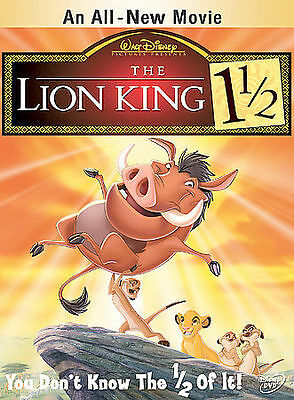 DISNEY The Lion King 1 1/2 (DVD, 2004, 2-Disc Set) MOVIE w/SLEEVE SIMBA TIMON