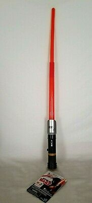 DISNEY STAR WARS LIGHT LASER SABER - RED by HASBRO  NEW W T -BATTERIES INCLUDED