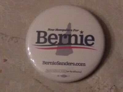 BERNIE SANDERS 2020 Campaign Button Pin Back New Hampshire OFFICIAL PRESIDENT