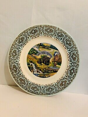 """Vintage- 10 1/2"""" Great Smokey Mountains Souviner Plate"""
