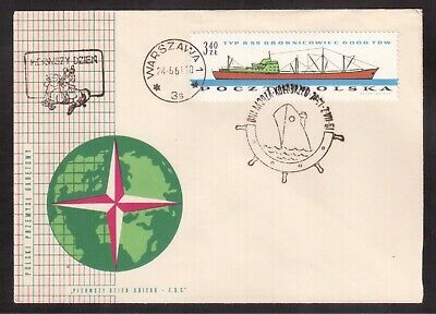 Poland 1961 First Day Cover, Polish Ship Industry !!1
