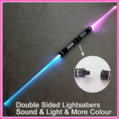 Lightsaber Cosplay Props Kids Double Light Saber Sound Toy Sword for Boys Gifts