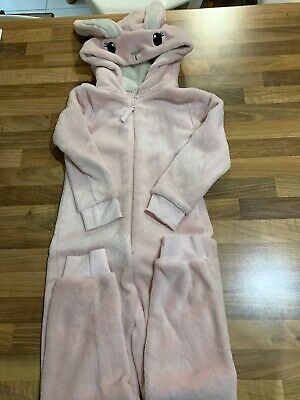 Girls Pink Bunny All In One. F&F. Age 5-6.